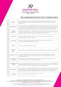 thumbnail of recommandations postoperatoires